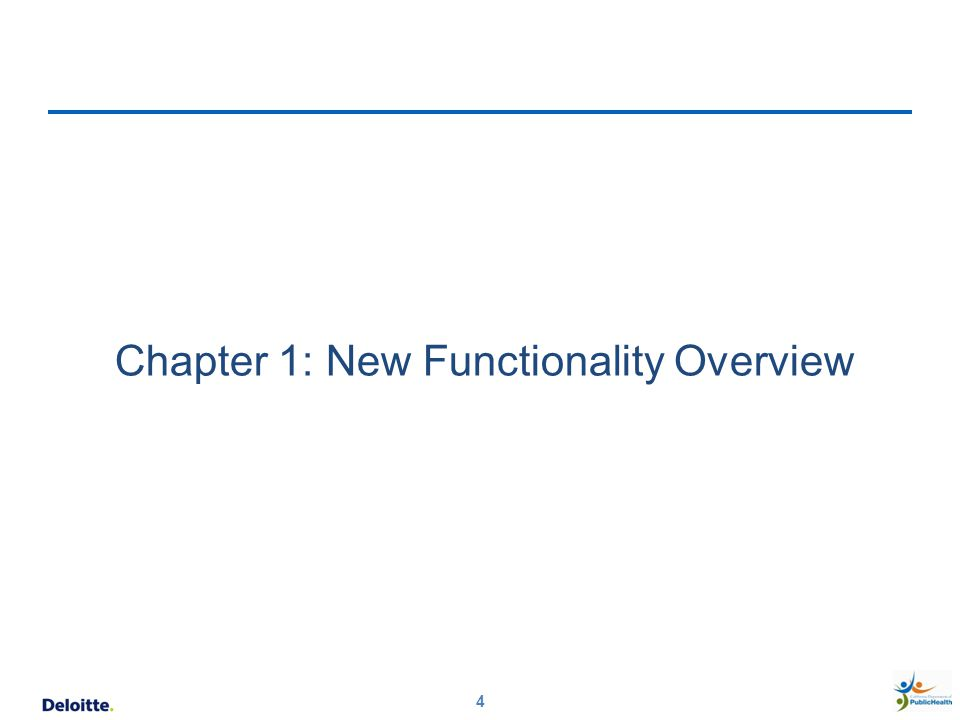 Chapter 1: New Functionality Overview