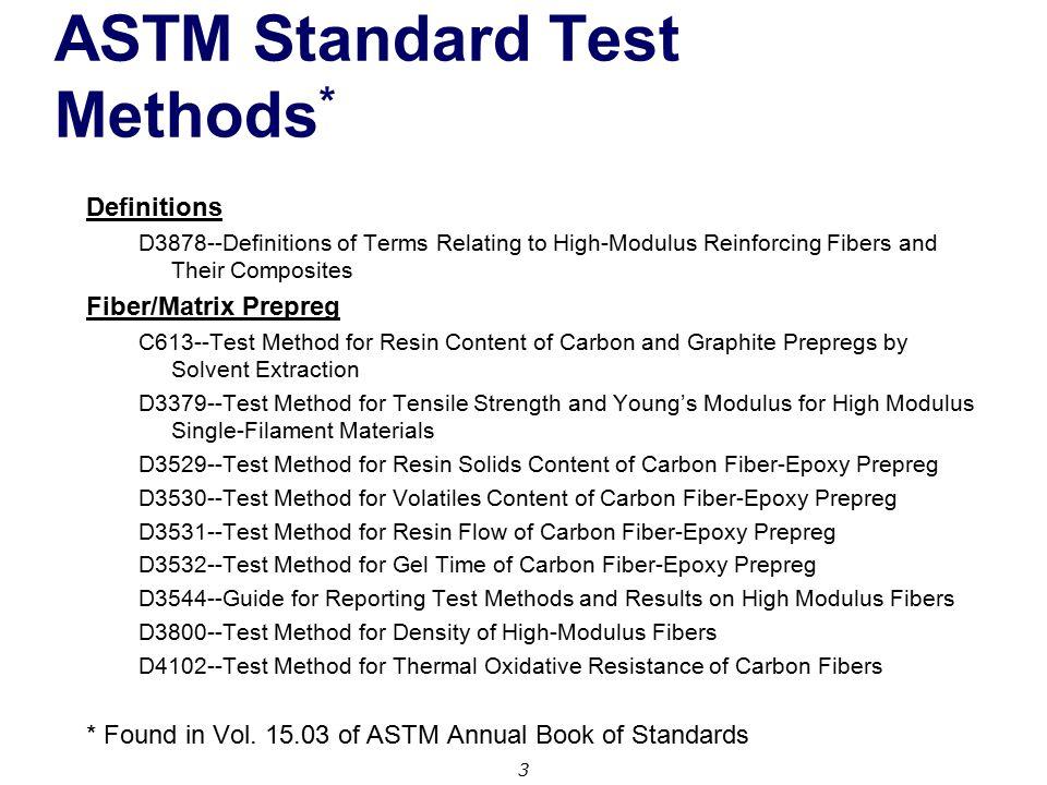 Test Methods for Fiber Reinforced Polymer (FRP) Composites