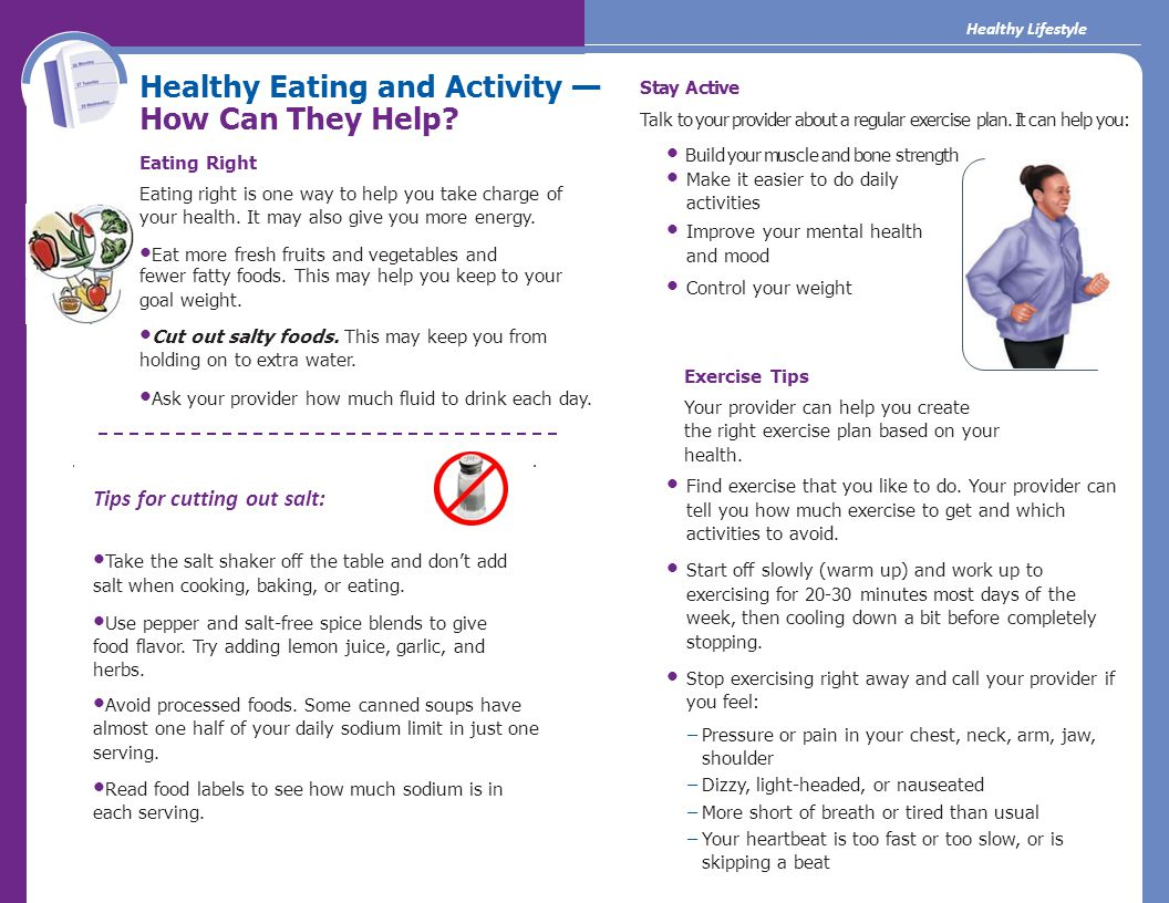 Healthy Eating and Activity — How Can They Help