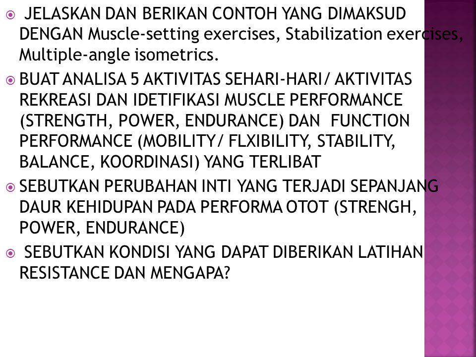 RESISTANCE EXERCISE LENNY AGUSTARIA B, SS. - ppt video online download