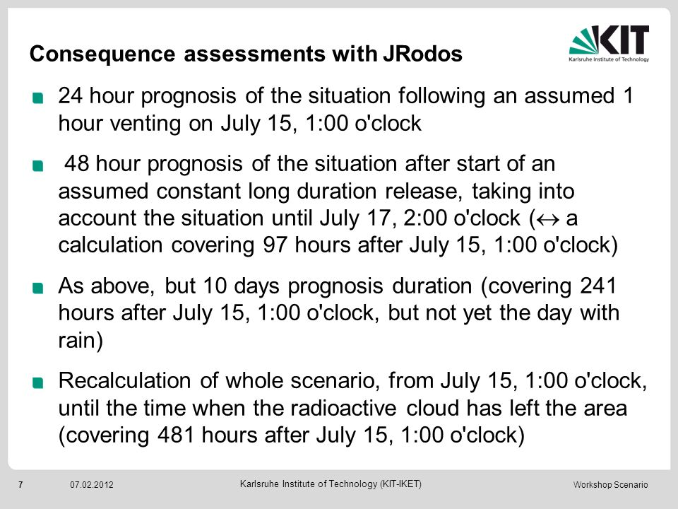 Consequence assessments with JRodos