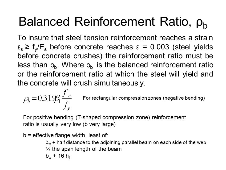 Balanced Reinforcement Ratio, ρb