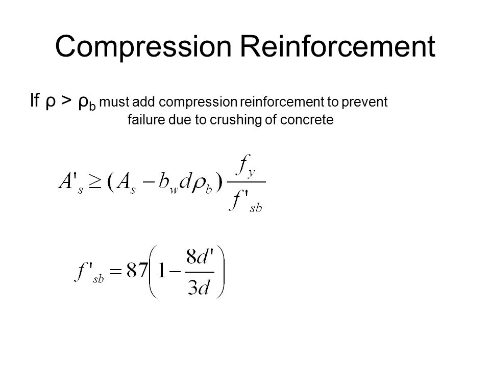 Compression Reinforcement