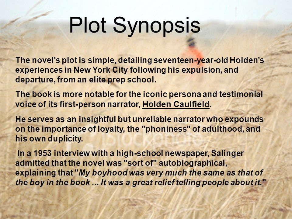 catcher and the rye psycological disorder essay Assessment of holden caulfield - the catcher in the rye essayswhen major negative life events occur, or more serious or prolonged problems arise, coping becomes.
