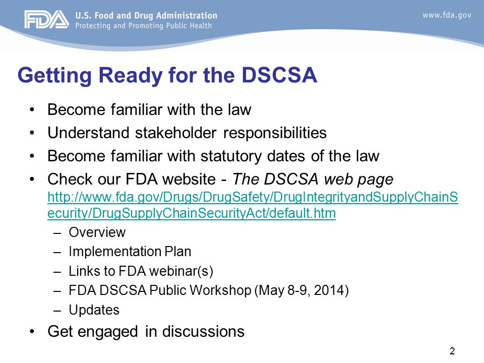 Getting Ready for the DSCSA