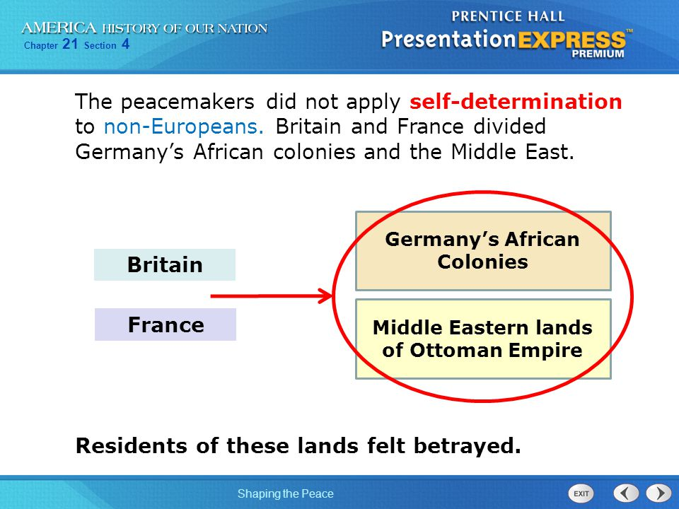Germany's African Colonies Middle Eastern lands of Ottoman Empire