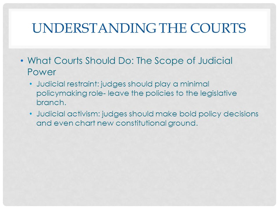 Understanding the Courts