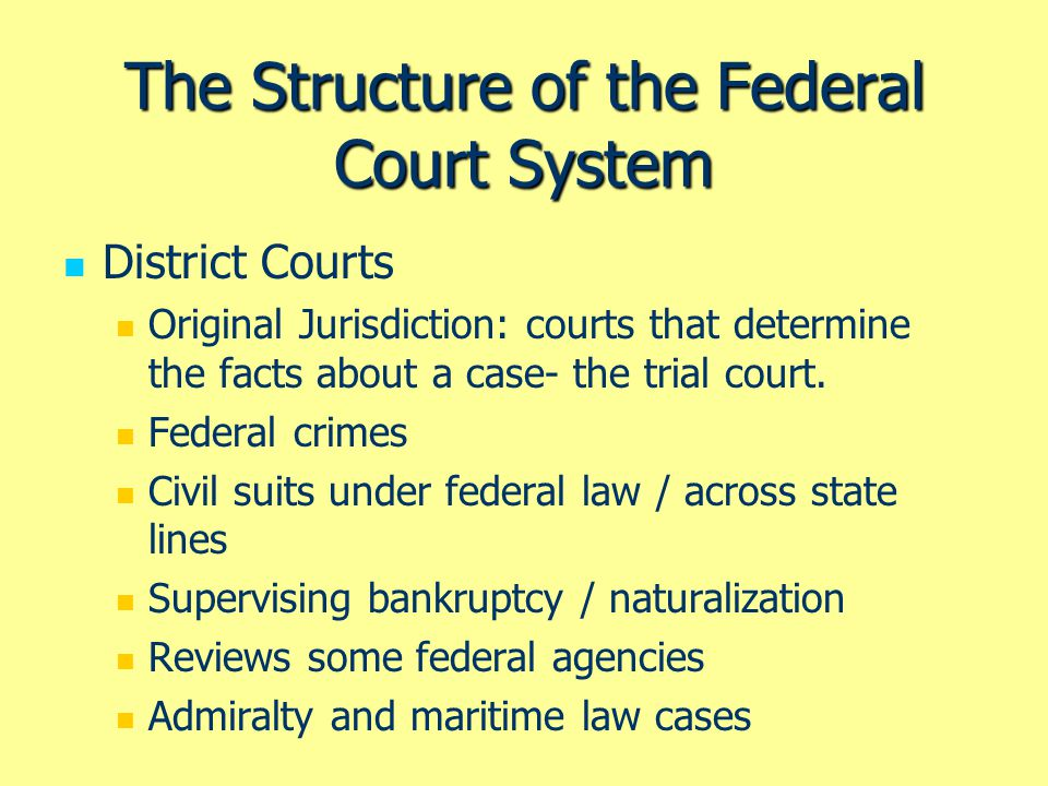 The Structure Of Federal Court System