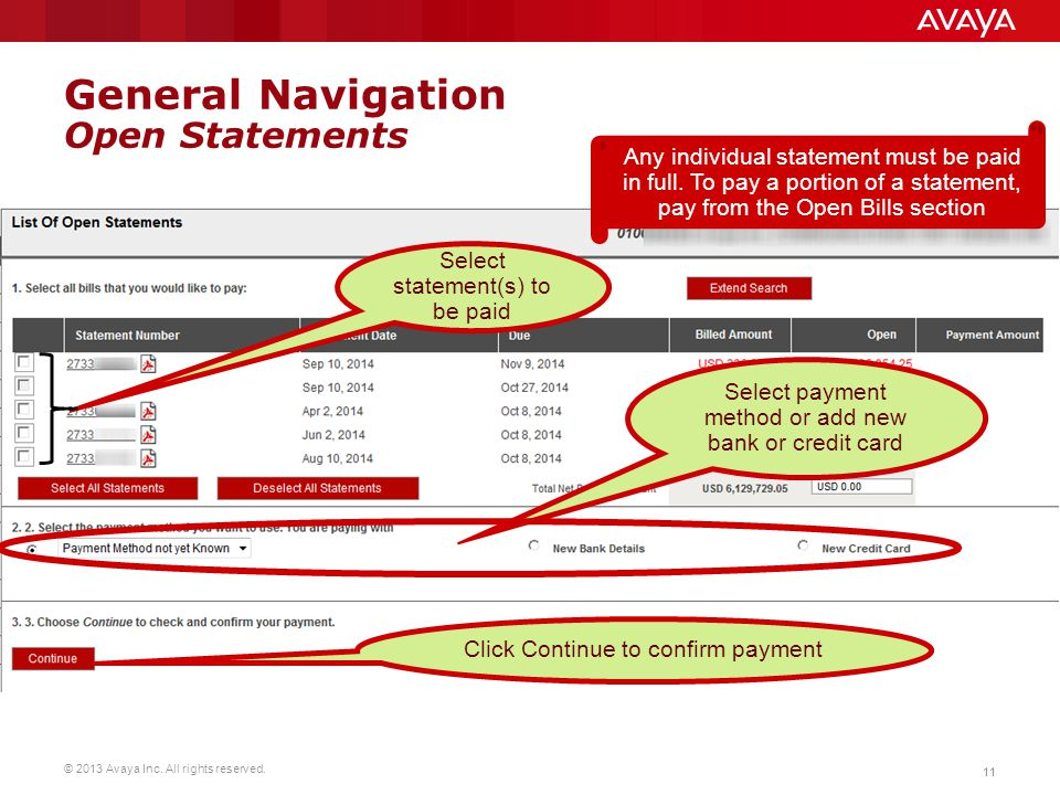 General Navigation Open Statements