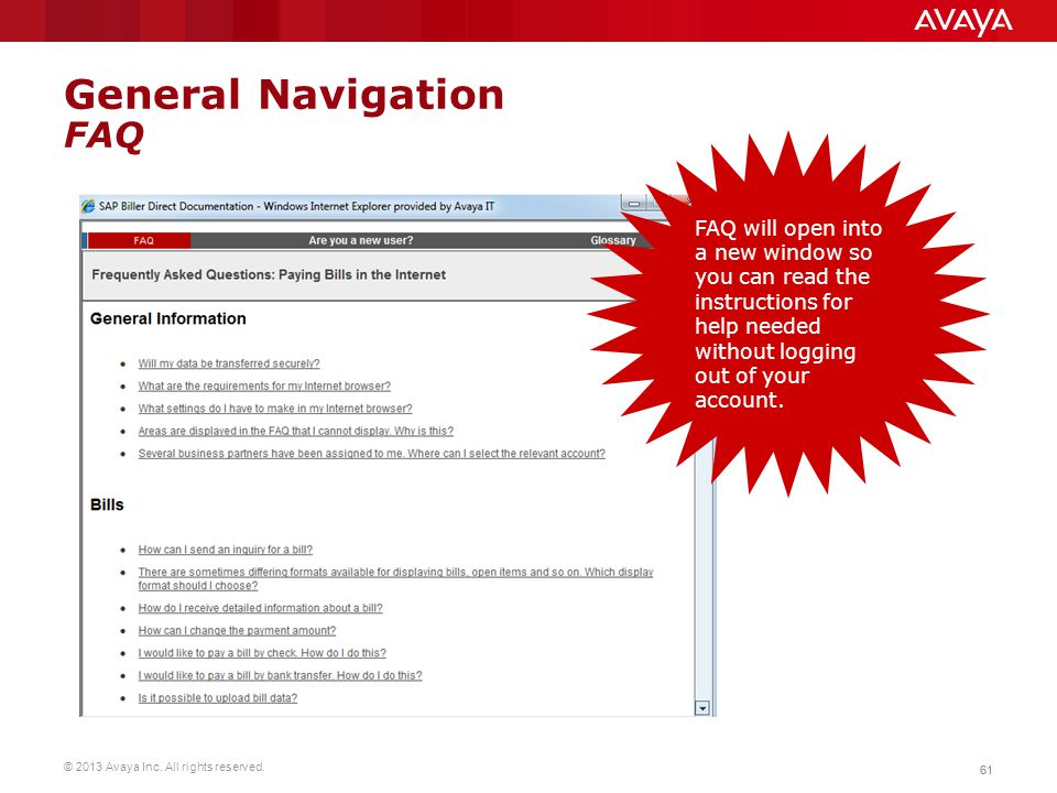 General Navigation FAQ