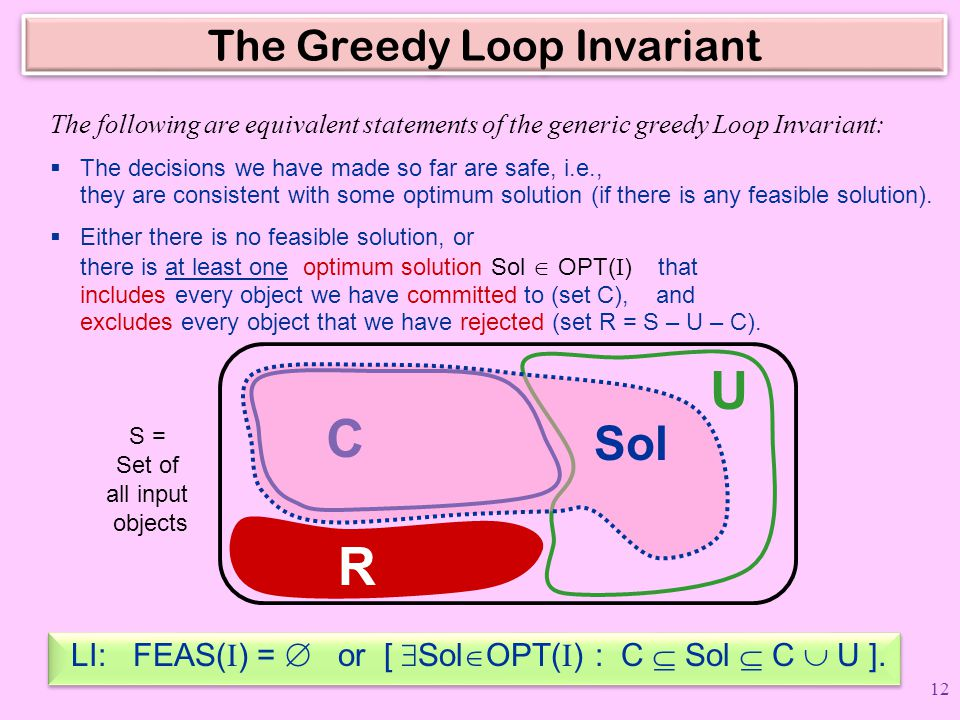 The Greedy Loop Invariant