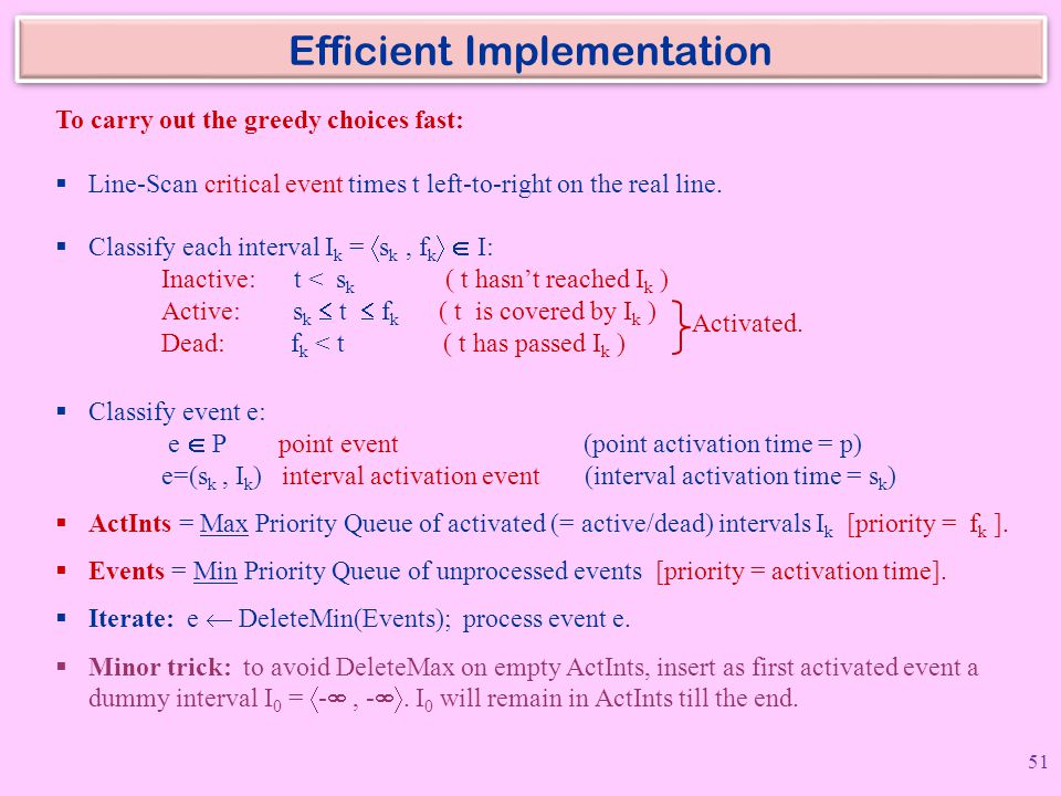 Efficient Implementation