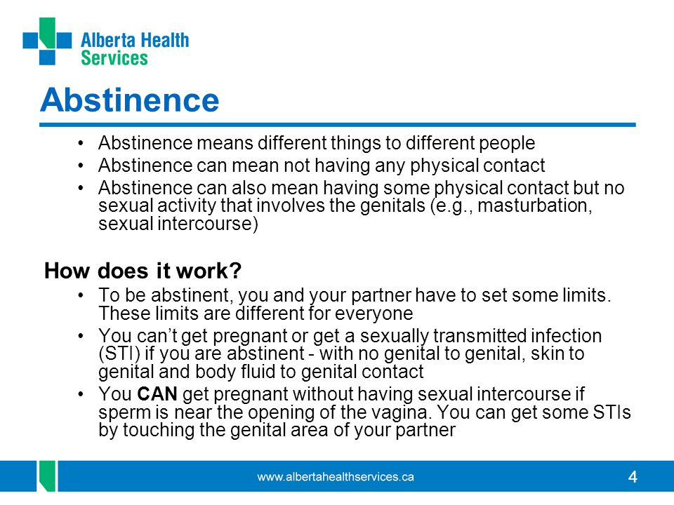 Abstinence How does it work