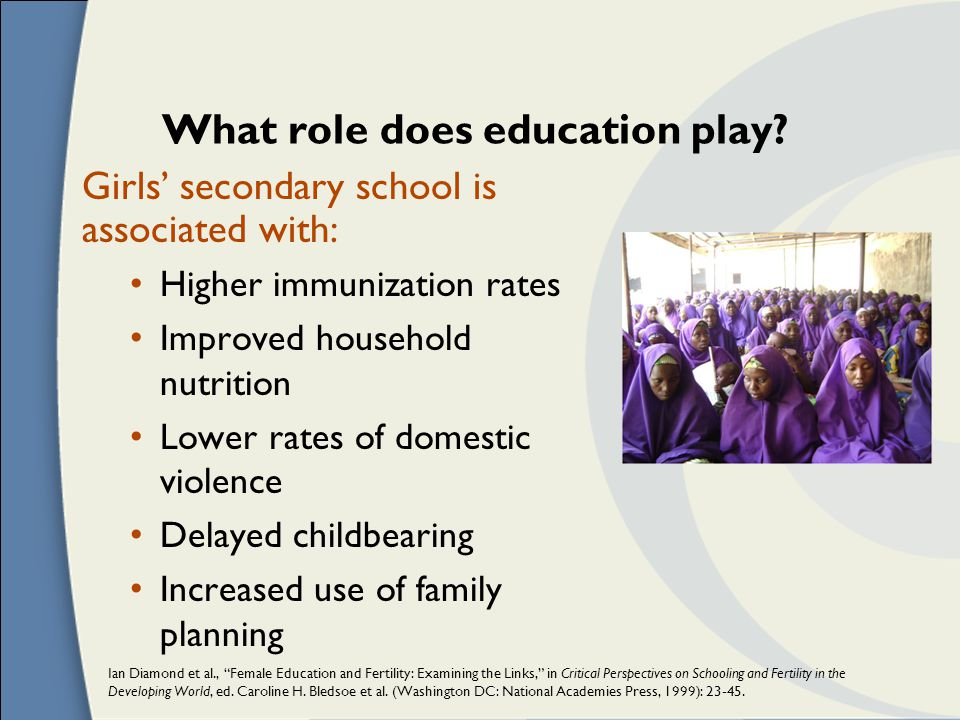 What role does education play