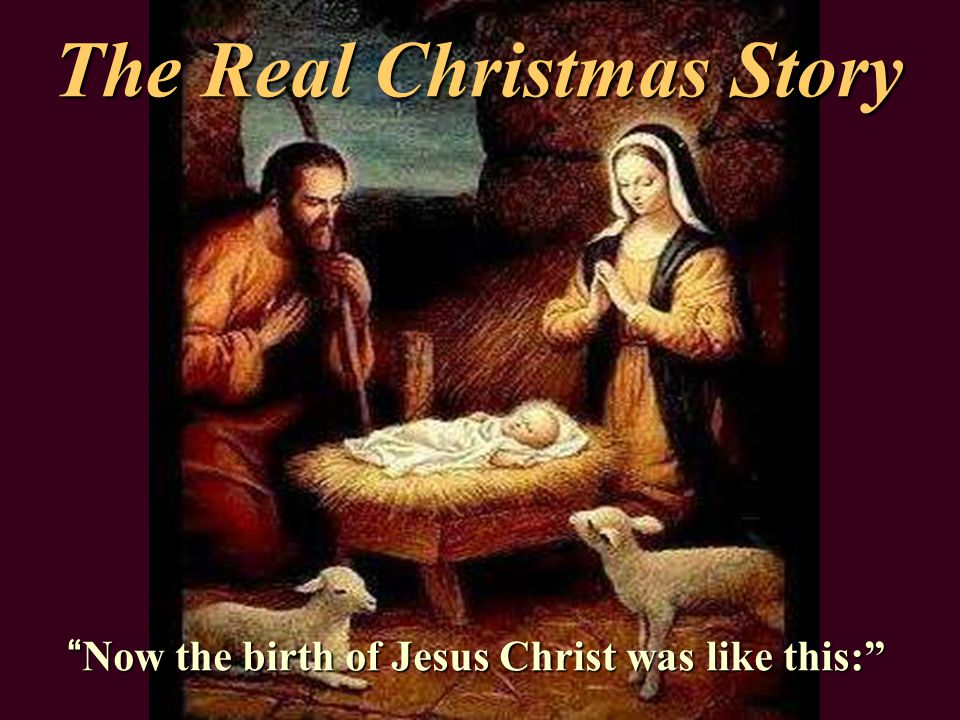 The Real Christmas Story - ppt download
