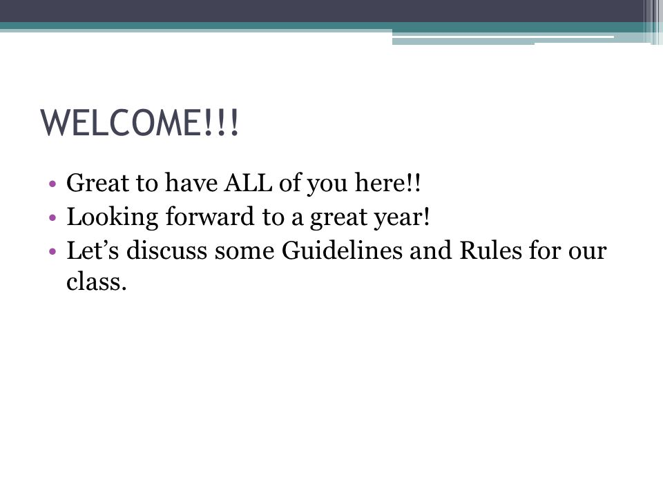 WELCOME!!! Great to have ALL of you here!!