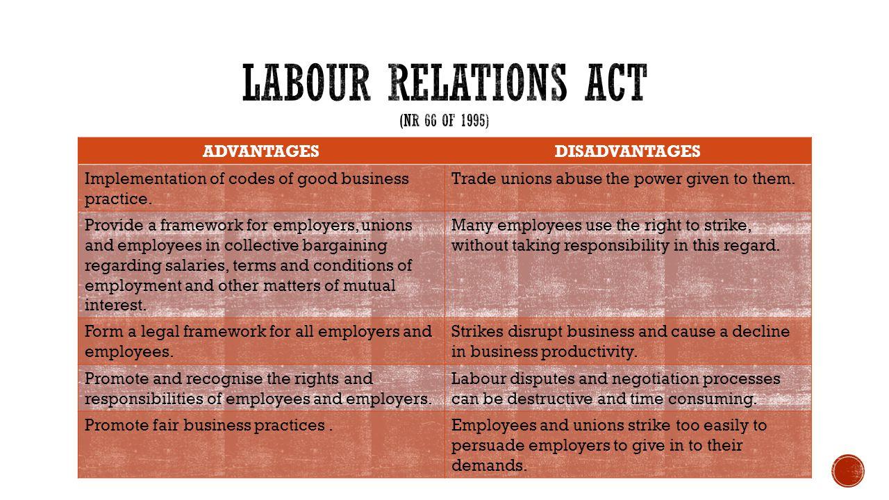 advantages of labour