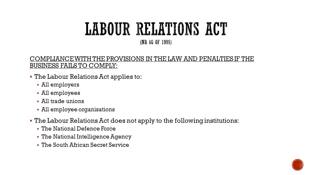 LABOUR RELATIONS ACT 66 OF 1995 PDF DOWNLOAD