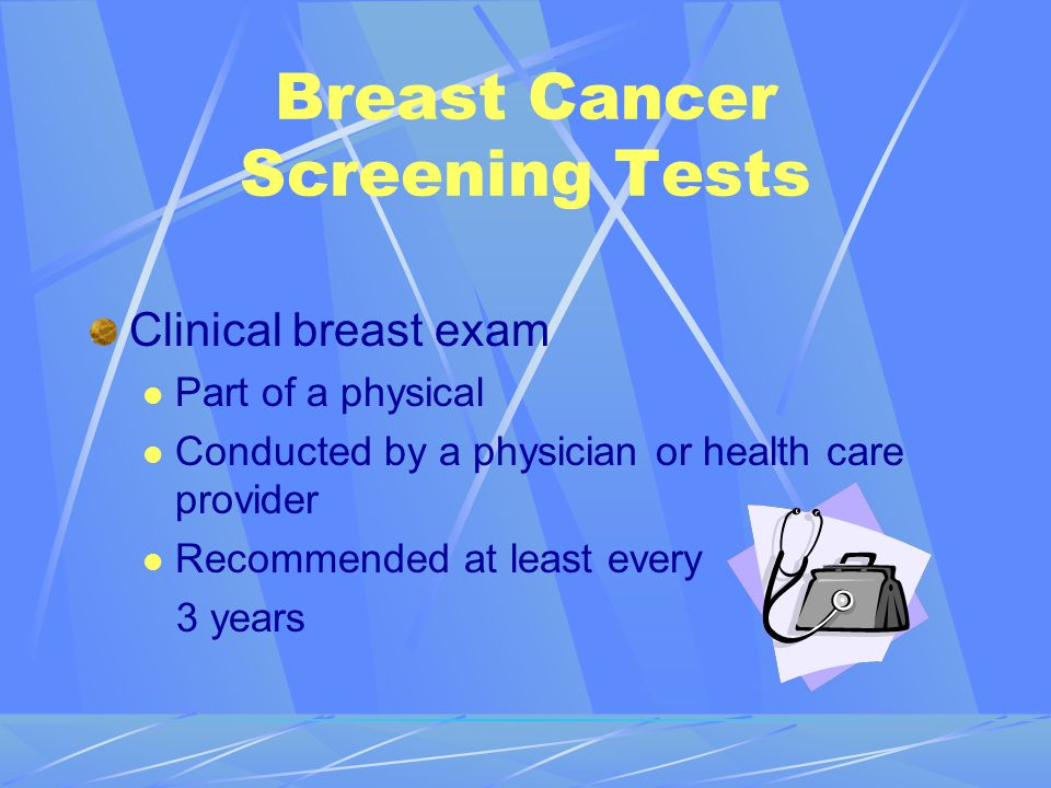 Breast Cancer Screening Tests