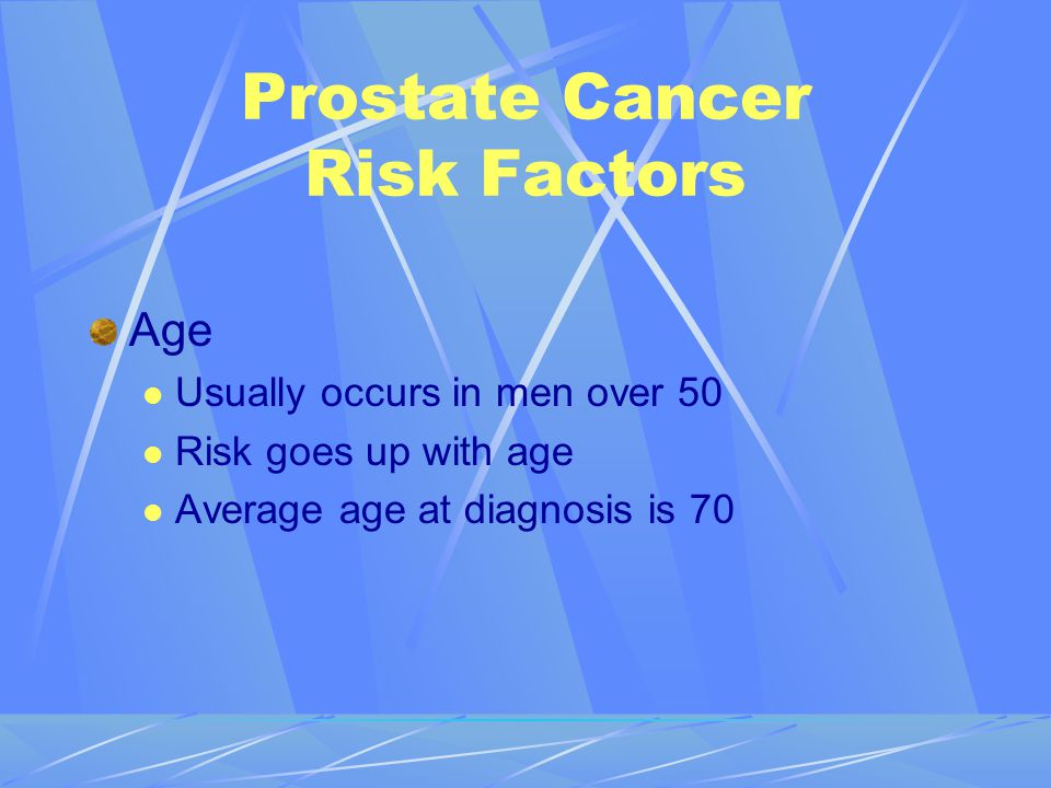 Prostate Cancer Risk Factors