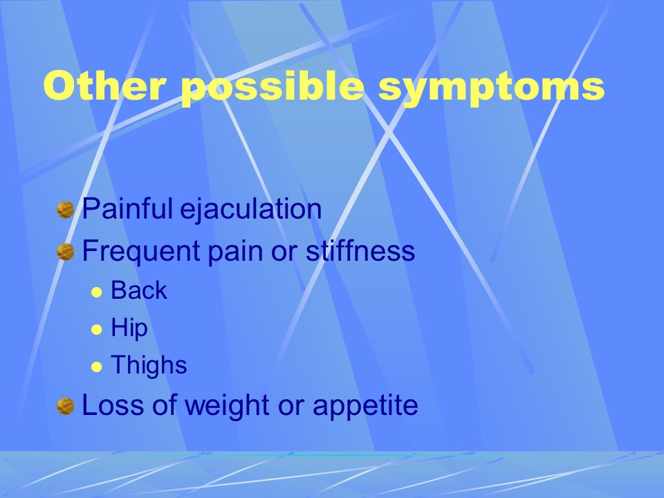 Other possible symptoms