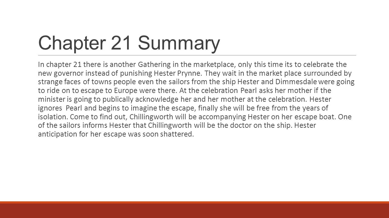 scarlet letter chapter 13 summary the scarlet letter chapters 21 amp ppt 24733 | Chapter 21 Summary