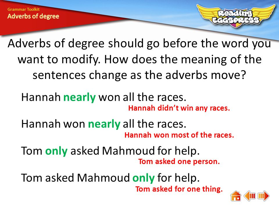 What Are Adverbs Of Degree Ppt Video Online Download