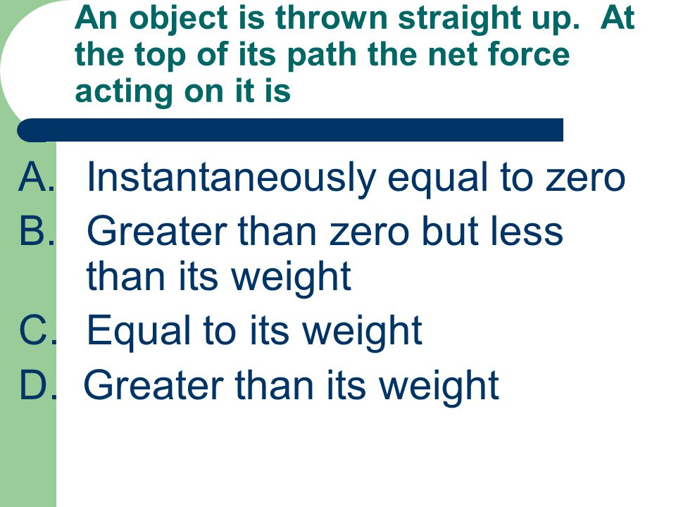 A. Instantaneously equal to zero