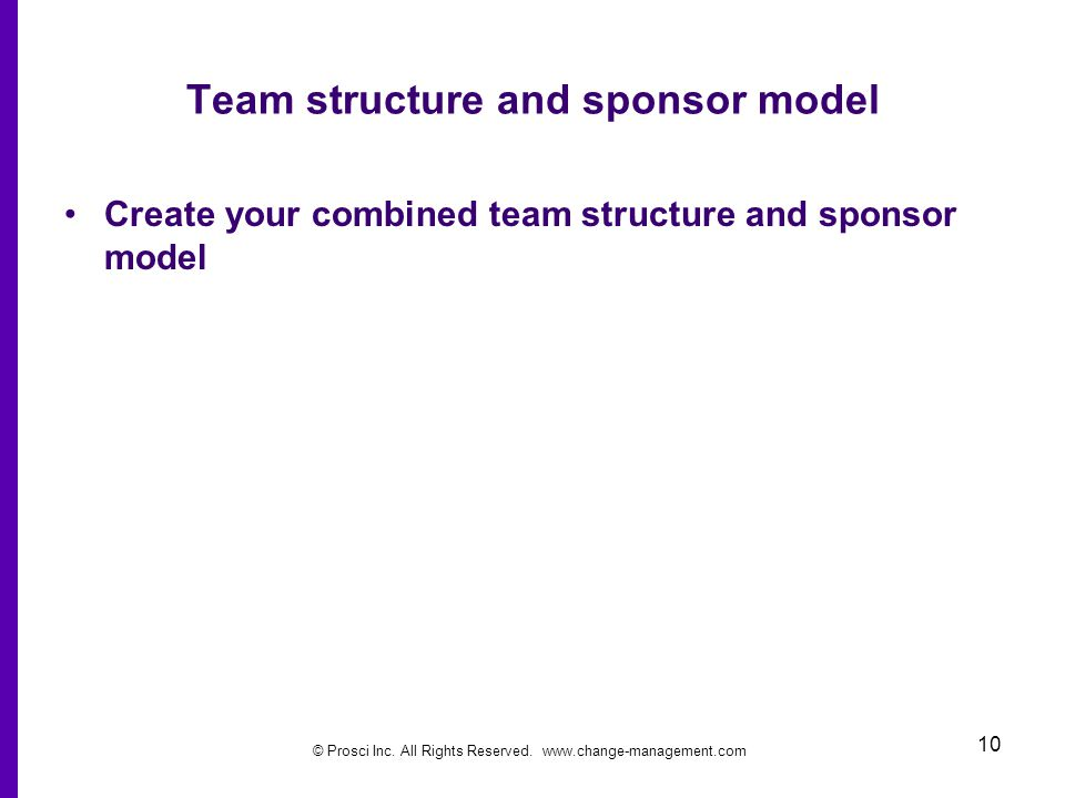Team structure and sponsor model