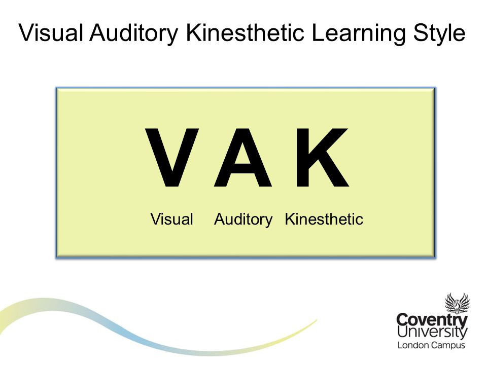 Visual Auditory Kinesthetic Learning Style