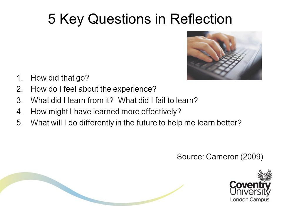 5 Key Questions in Reflection