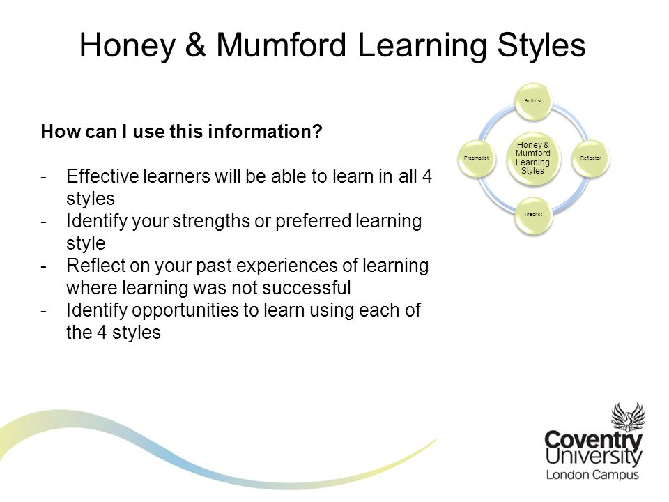 Honey & Mumford Learning Styles