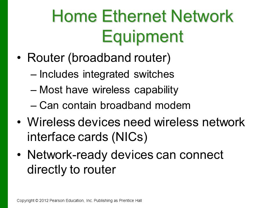 Home Ethernet Network Equipment