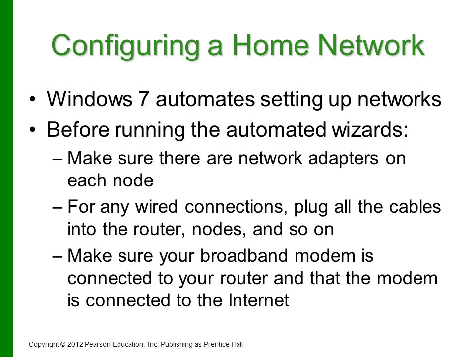 Configuring a Home Network