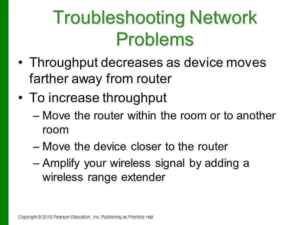 Troubleshooting Network Problems