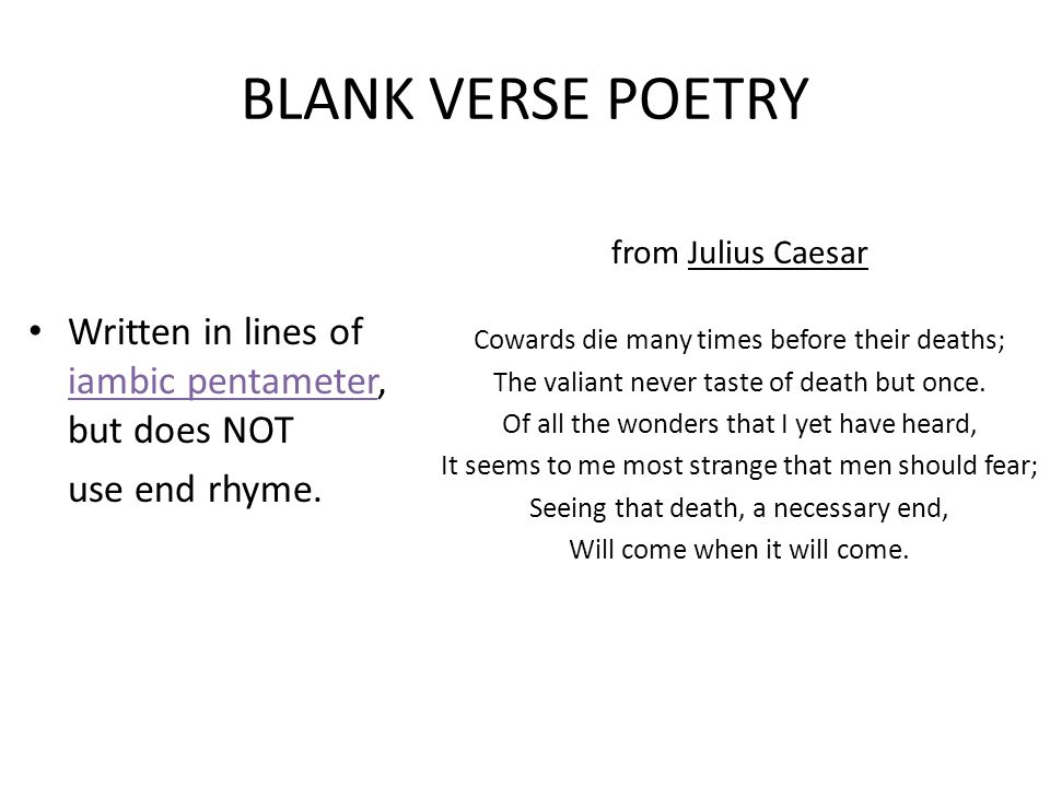 A Unit On Types Of Poetry And Literary Terms Ppt Video Online Download