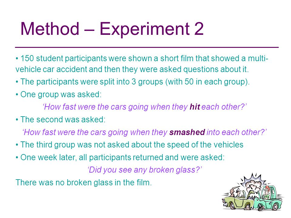 Method – Experiment 2