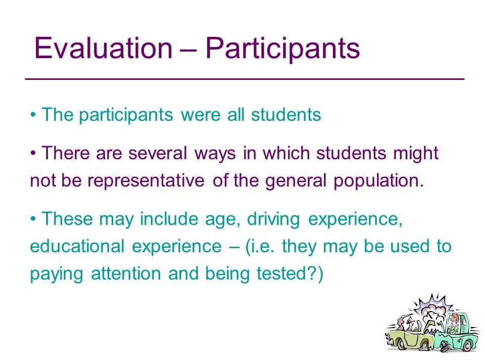 Evaluation – Participants