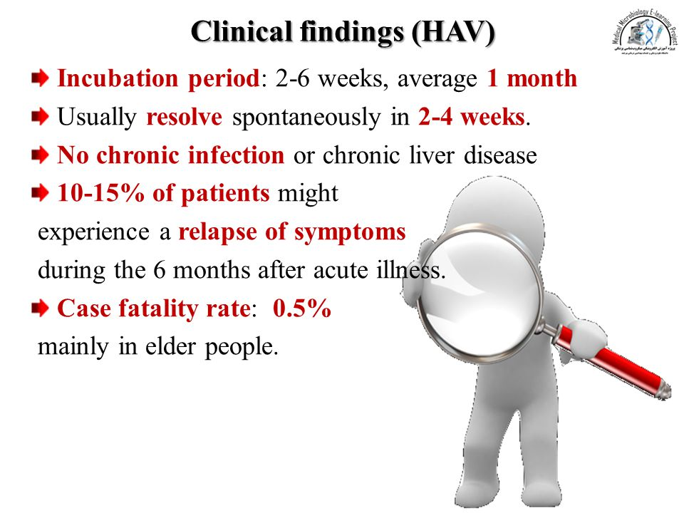 Clinical findings (HAV)