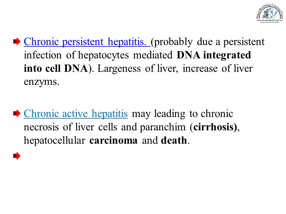 Chronic persistent hepatitis