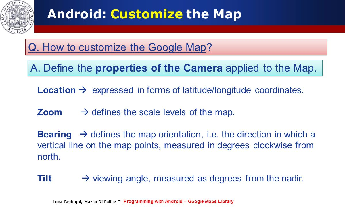 Programming with Android: Geo-localization and Google Map