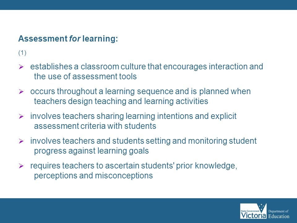 Assessment for learning: