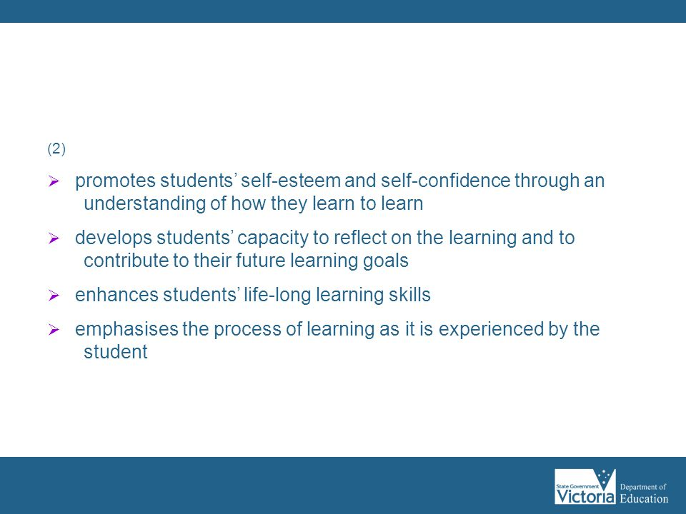 Assessment as learning:
