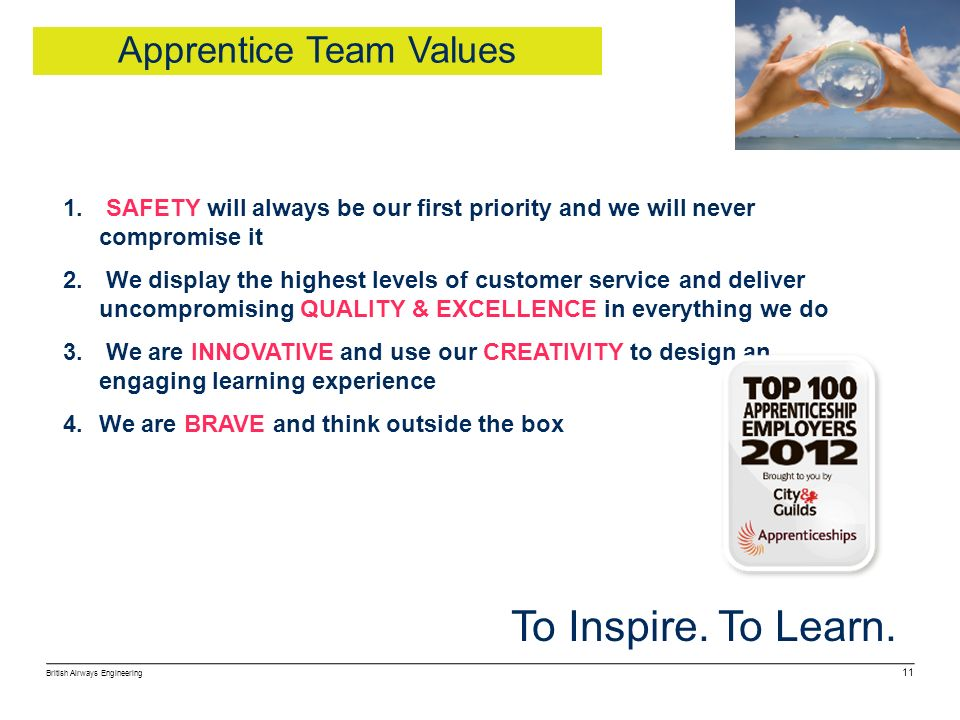 Apprentice Team Values