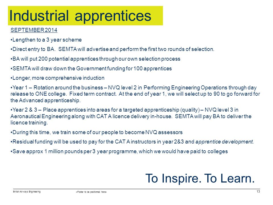 Industrial apprentices