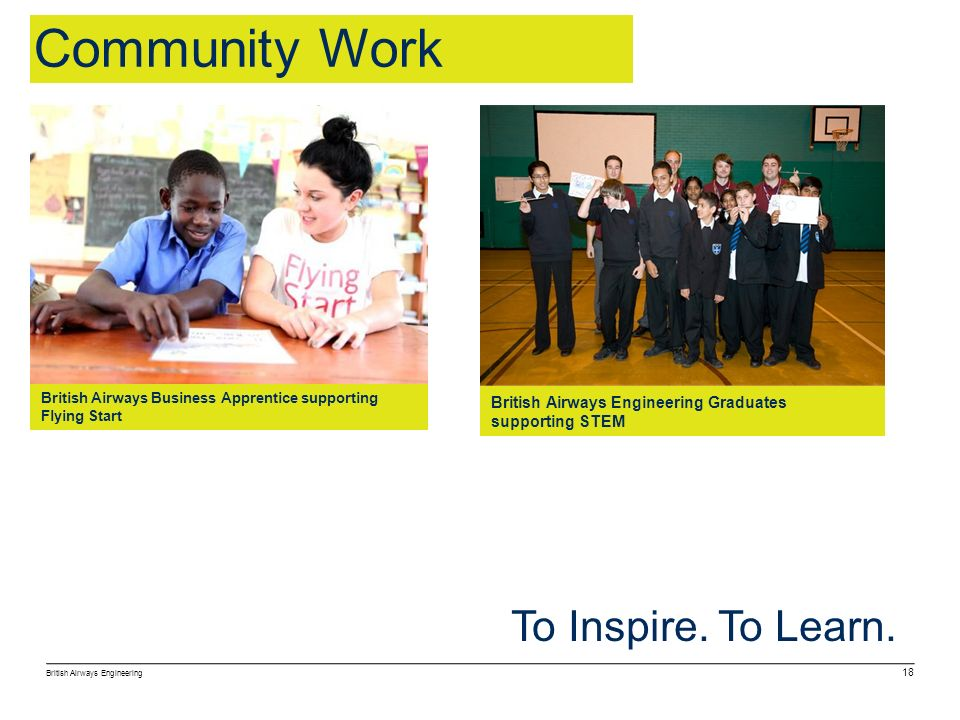 Community Work To Inspire. To Learn.