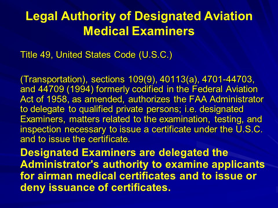 Ask the Aviation Medical Examiner - ppt download