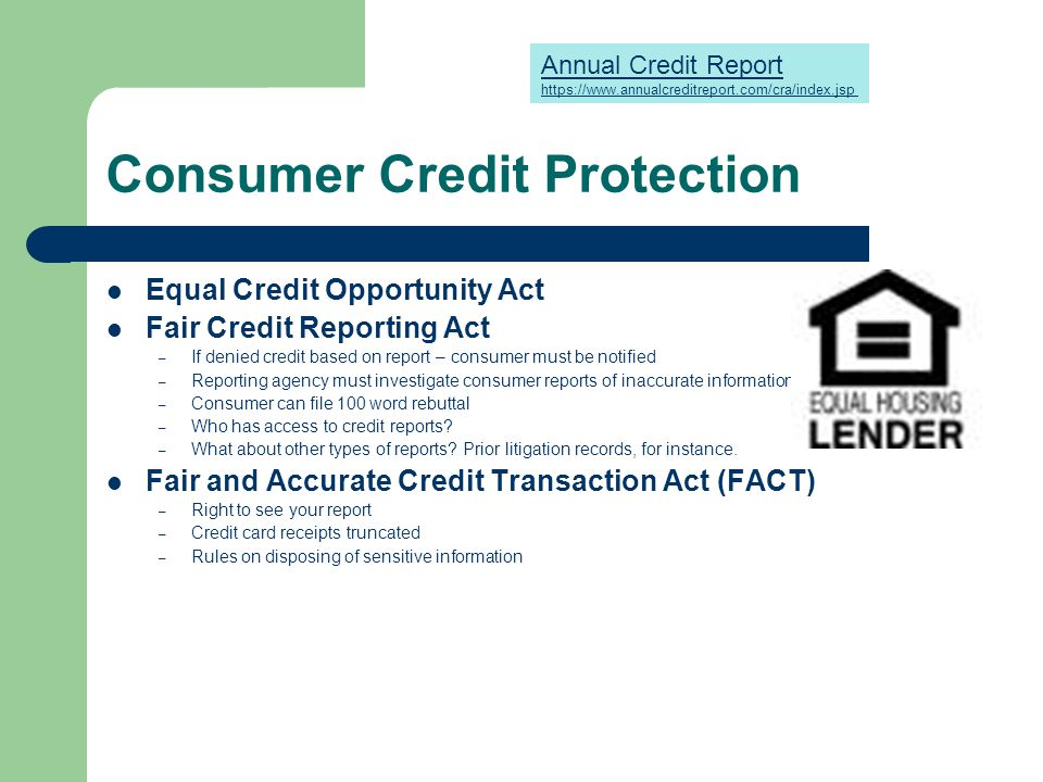 consumer protection laws ppt video online downloadconsumer credit protection