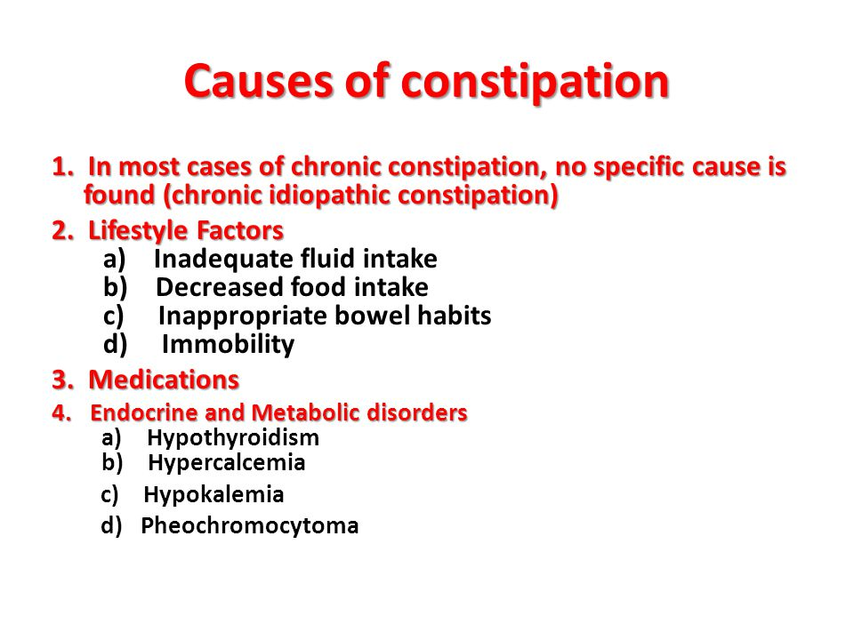 Treatment of constipation and diarrhea - ppt video online