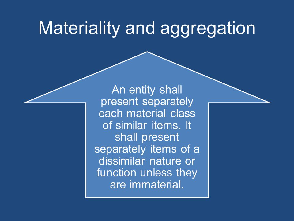 Materiality and aggregation